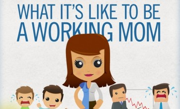 working mum infographic