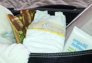 inside hospital bag