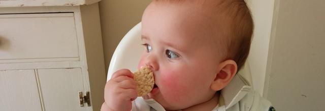 eating ricecake